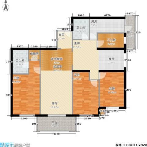 宅美诗3室0厅2卫1厨140.00㎡户型图