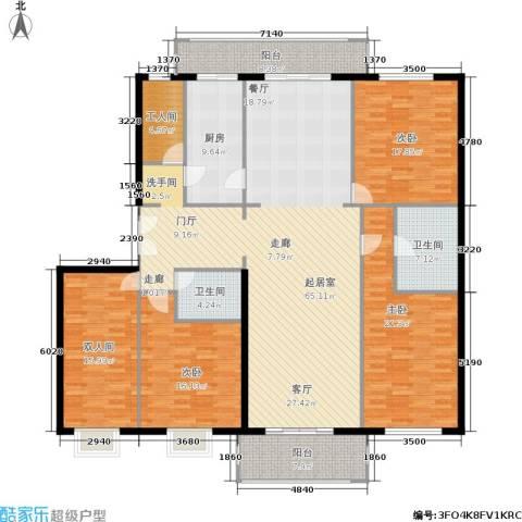 宅美诗3室0厅2卫1厨195.00㎡户型图