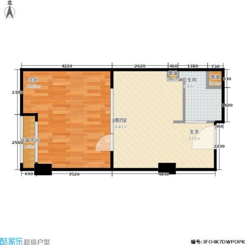 金都公寓式酒店1室0厅1卫0厨43.00㎡户型图