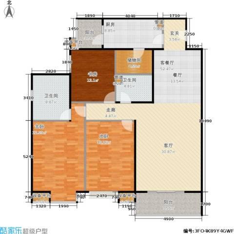 公园5号3室1厅2卫1厨155.00㎡户型图