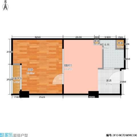 金都公寓式酒店1室1厅1卫0厨43.00㎡户型图