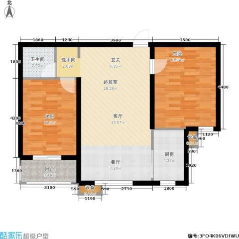 北里洋房2室0厅1卫1厨86.00㎡户型图