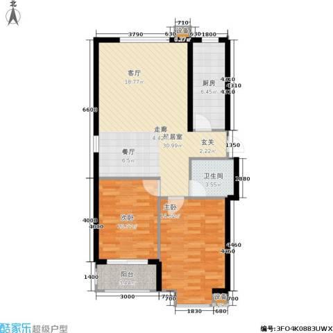 北里洋房2室0厅1卫1厨98.00㎡户型图