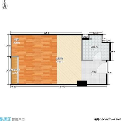 金都公寓式酒店1卫0厨43.00㎡户型图