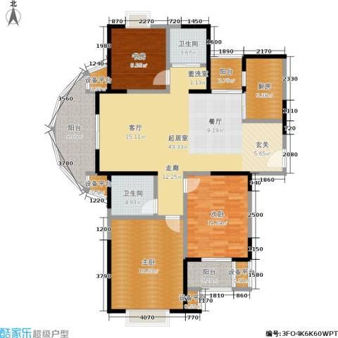 印象春城3室0厅2卫1厨135.00㎡户型图