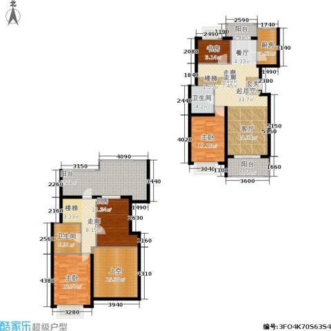 新空间家园4室0厅2卫1厨154.81㎡户型图