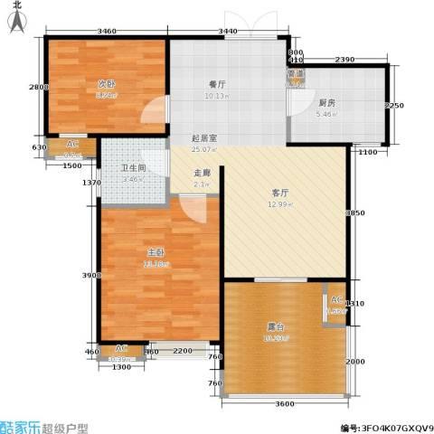 长安壹品2室0厅1卫1厨86.00㎡户型图