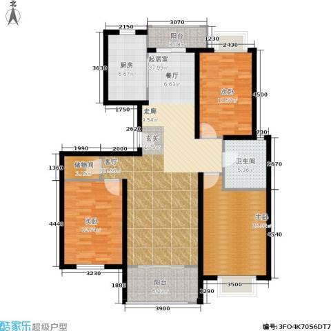 新空间家园3室0厅1卫1厨113.59㎡户型图
