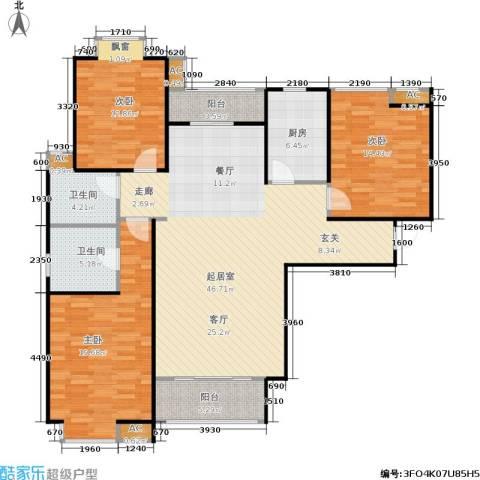 市政馨苑3室0厅2卫1厨162.00㎡户型图