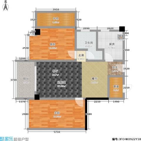 颐和雅轩2室0厅1卫1厨82.00㎡户型图
