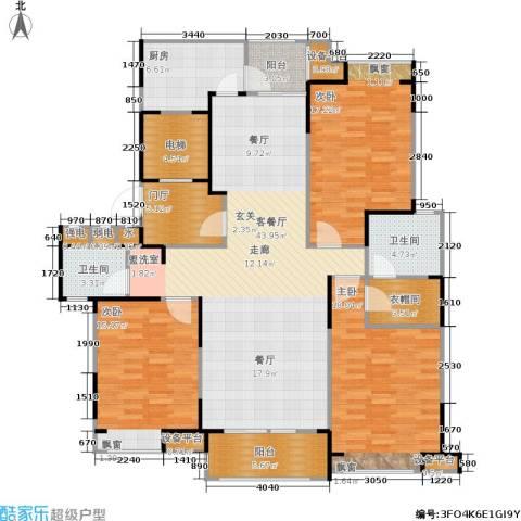 瀛通金鳌山公寓3室1厅2卫1厨146.00㎡户型图