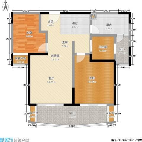 印象春城2室0厅1卫1厨92.00㎡户型图