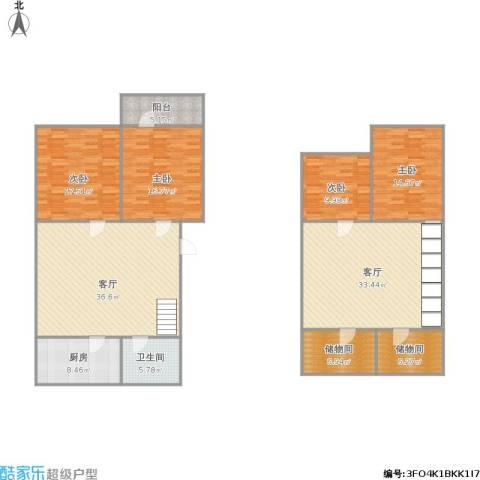 化纤小区4室2厅1卫1厨214.00㎡户型图