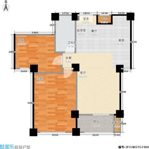 水木华庭2室0厅1卫0厨88.00㎡户型图
