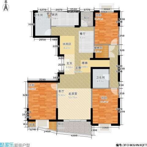 静安阳光华庭3室0厅2卫1厨139.00㎡户型图