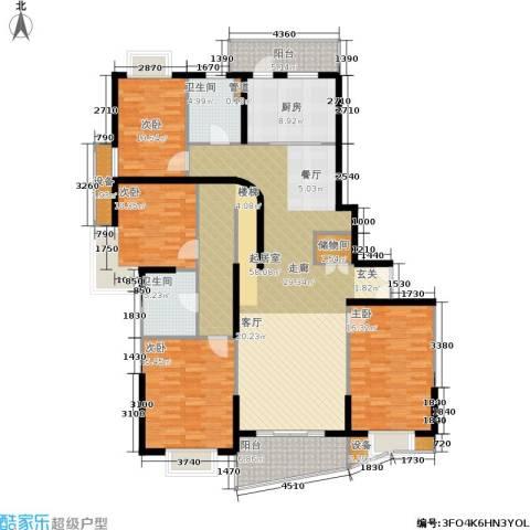 静安阳光华庭4室0厅2卫1厨166.00㎡户型图