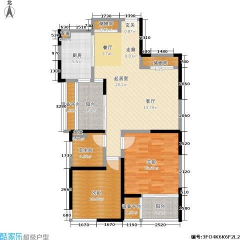 印象春城2室0厅1卫1厨88.00㎡户型图