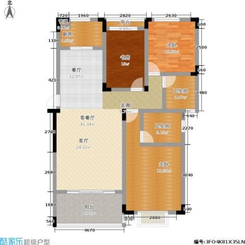 山水花都3室1厅2卫1厨151.00㎡户型图