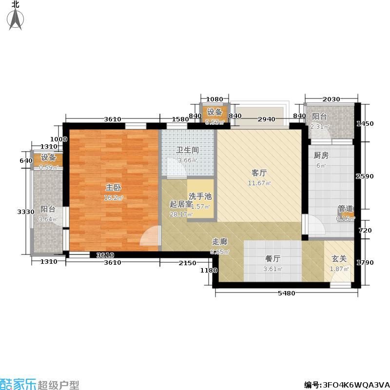 君御豪庭70.00㎡房型: 一房; 面积段: 70 -80 平方米;户型