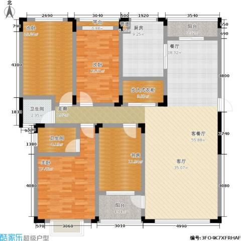 山水花都4室1厅2卫1厨206.00㎡户型图
