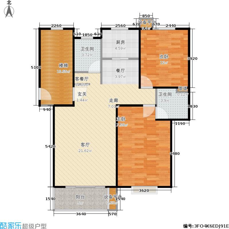 汇丰馨苑2房2厅2卫户型2室2厅2卫