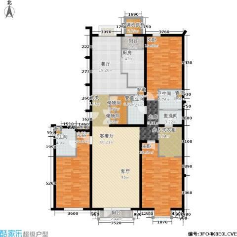 上元君庭3室1厅3卫1厨211.00㎡户型图
