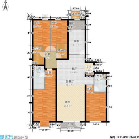 上元君庭4室1厅3卫1厨214.00㎡户型图