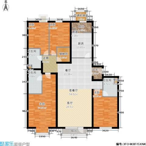 上元君庭4室1厅3卫1厨215.00㎡户型图