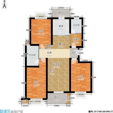 上海阳城3室0厅2卫1厨112.00㎡户型图