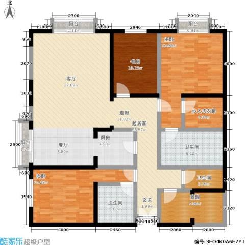 金桥国际公寓3室0厅3卫0厨186.00㎡户型图