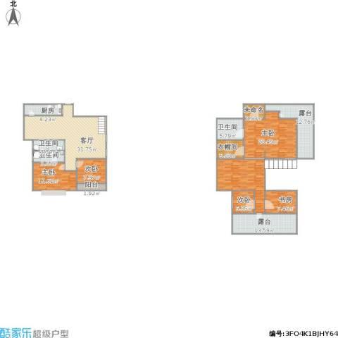 锦都花园5室2厅3卫1厨215.00㎡户型图