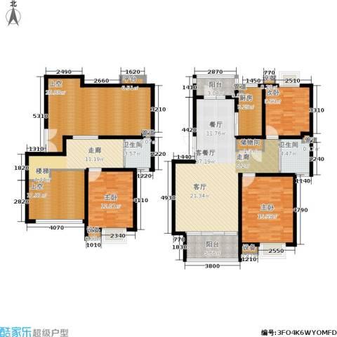 泰宸舒庭3室1厅2卫1厨173.00㎡户型图