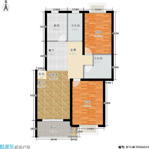 新空间家园2室0厅2卫1厨99.29㎡户型图