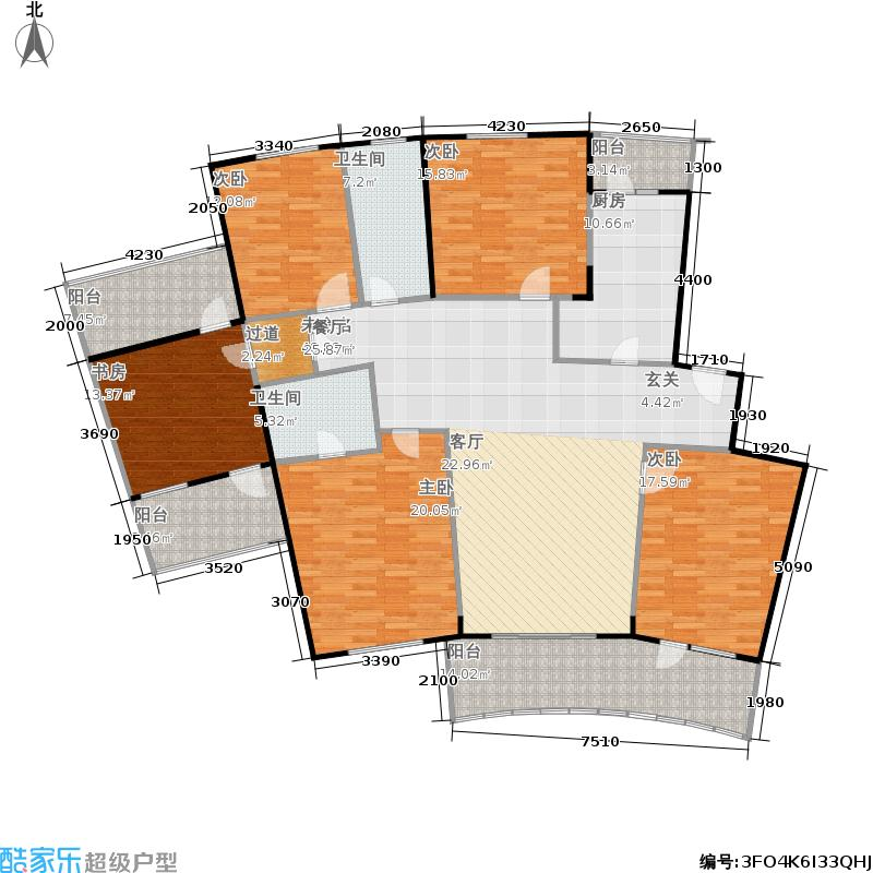 黄浦新苑196.89㎡房型: 五房; 面积段: 196.89 -196.89 平方米; 户型