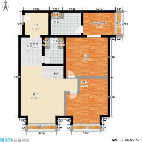 中心铂庭2室0厅2卫0厨124.40㎡户型图
