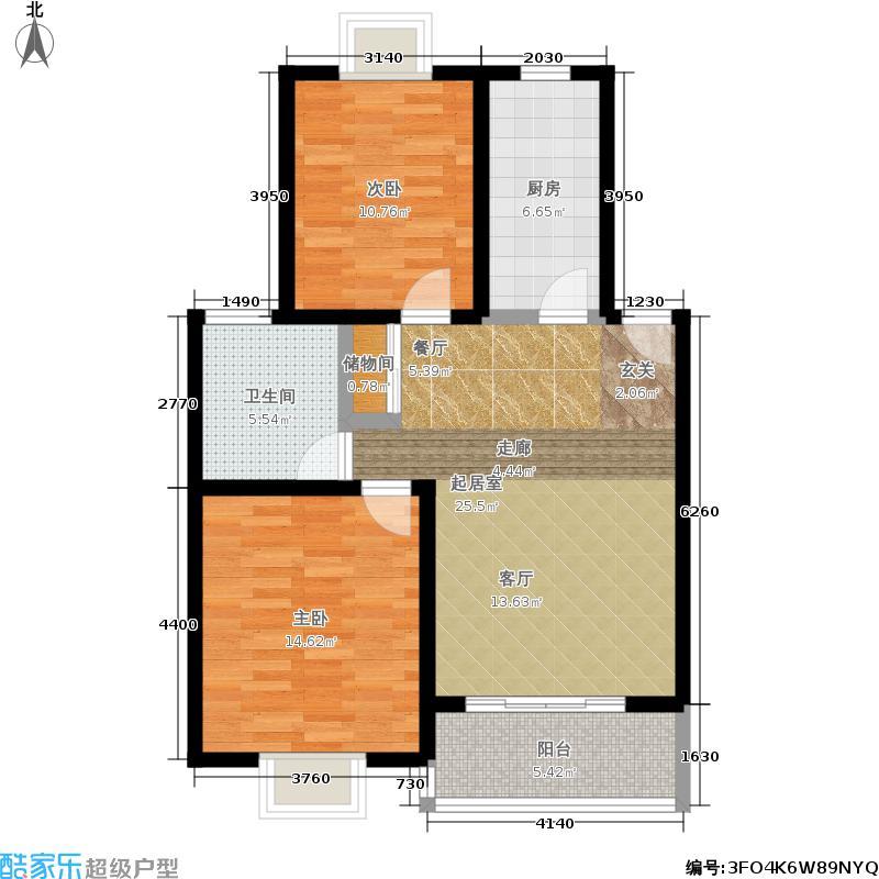 成亿花园80.71㎡房型: 二房; 面积段: 80.71 -100.47 平方米; 户型