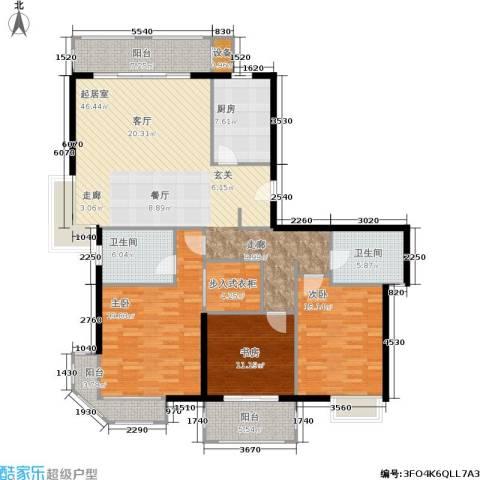 天山怡景苑3室0厅2卫1厨140.00㎡户型图