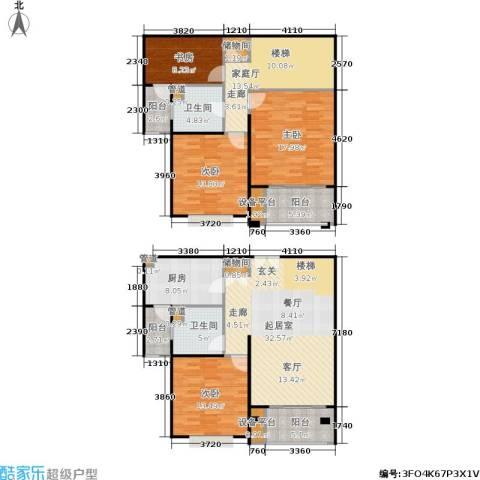 德玛公寓4室0厅2卫1厨150.00㎡户型图