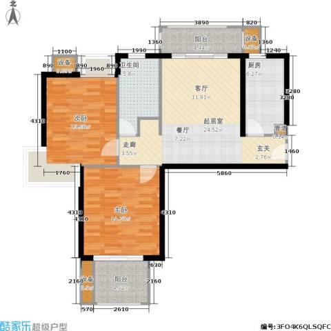 天山怡景苑2室0厅1卫1厨109.00㎡户型图