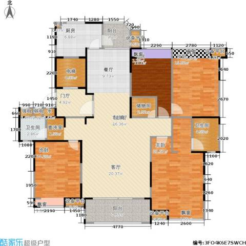 瀛通金鳌山公寓4室1厅2卫1厨164.00㎡户型图