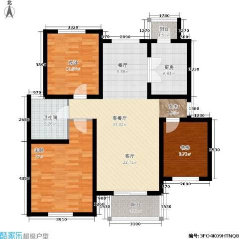 心之筑3室1厅1卫1厨100.00㎡户型图