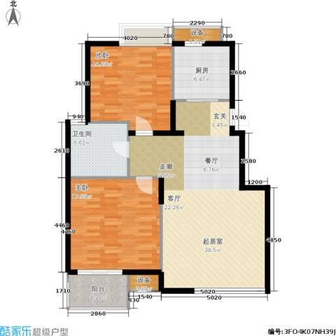 唯美尚品2室0厅1卫1厨100.00㎡户型图