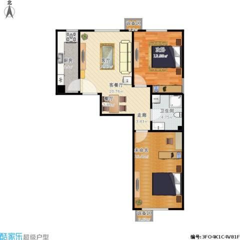 北京城建・畅悦居1室1厅1卫1厨84.00㎡户型图