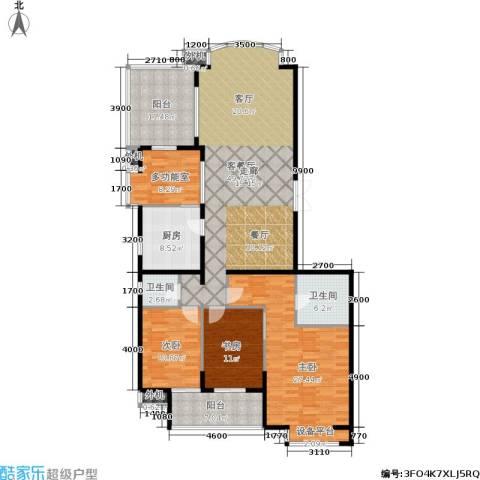 向阳门第3室1厅2卫1厨165.00㎡户型图