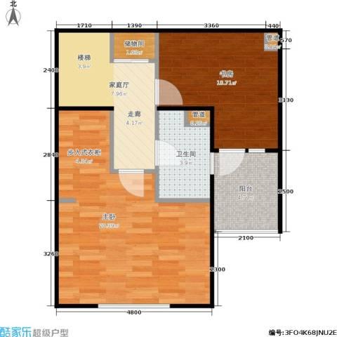 德玛公寓2室0厅1卫0厨67.00㎡户型图