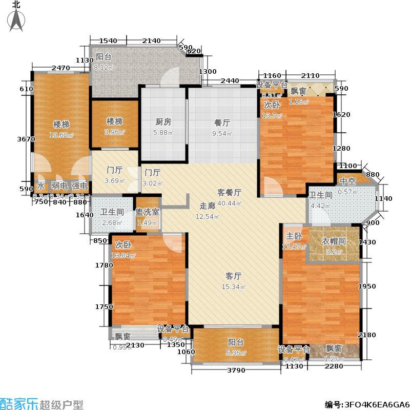 瀛通金鳌山公寓146.00㎡3房户型图户型3室2厅2卫