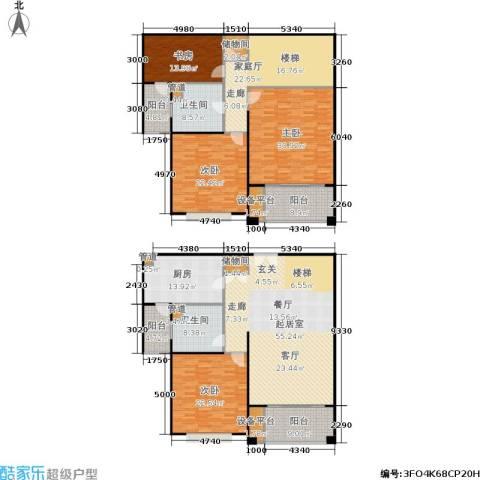 德玛公寓4室0厅2卫1厨250.00㎡户型图