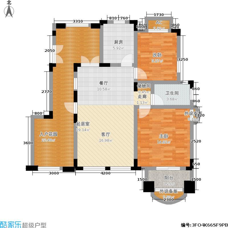 中国诺贝尔城北入户退台花园洋房五层HB-A5户型