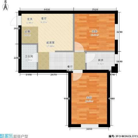 中驰国际2室0厅1卫1厨70.00㎡户型图