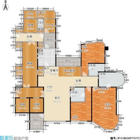 东方润园3室1厅4卫1厨267.15㎡户型图